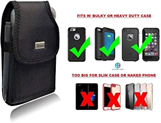 Military Grade Holster Belt Case, Rugged Pouch Hip Tactical Outdoor Carrying Holsters Belt Compatible w/ [iPhone 6 6S 7 8 X (4.7'') Sam S5 S6 S7 S8 LG J7] Fits with OtterBox LifeProof Heavy Duty Case