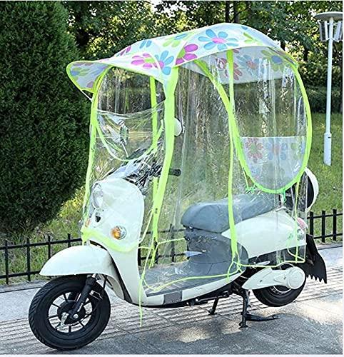 JXH Cubierta De Parasol De Motocicleta Eléctrica Universal, Cubierta Impermeable A La Lluvia para Scooter De Motor Completamente Cerrada, Cubierta De Paraguas para Toldo De Coche con Batería,