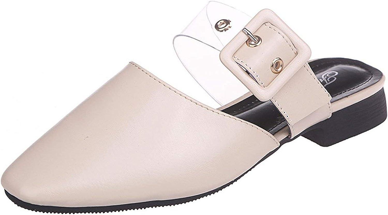 Mr Z Waroom Women's Summer Slippers Square Toe Muller shoes Platform Sandals Casual shoes Summer Slippers Women flip Flops