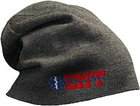 Custom Slouchy Beanie EMT Paramedic Embroidery Skull Cap Hats for Men & Women