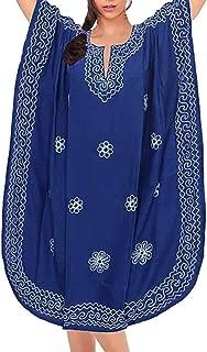 MEILING Women's Print Kaftan Nightgown Long Caftans Beach Maxi Dress Bikini Swimsuit Bathing Suit Cover Up Swimwear