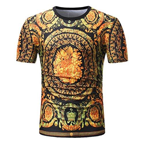 Heren painted design ronde kraag vrije tijd korte mouwen T-shirt