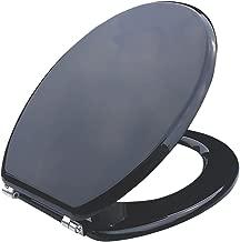 Cooke y Lewis estándar cierre inodoro asiento madera moldeada negro