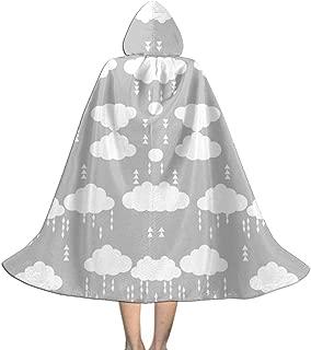 Cloud Rain Rains Cloud Clouds Raincloud Grey Nurse Kids Hooded Cloak Cape for Christmas Halloween Cosplay Costumes