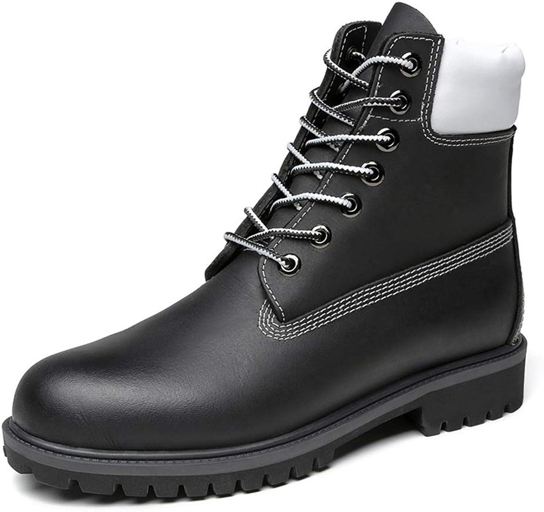 EGS-schuhe Herren Stiefeletten Casual runde Zehe Schuhe Schuhe (warme Velvet optional),Grille Schuhe (Farbe   Schwarz, Größe   41 EU)  meistverkauft
