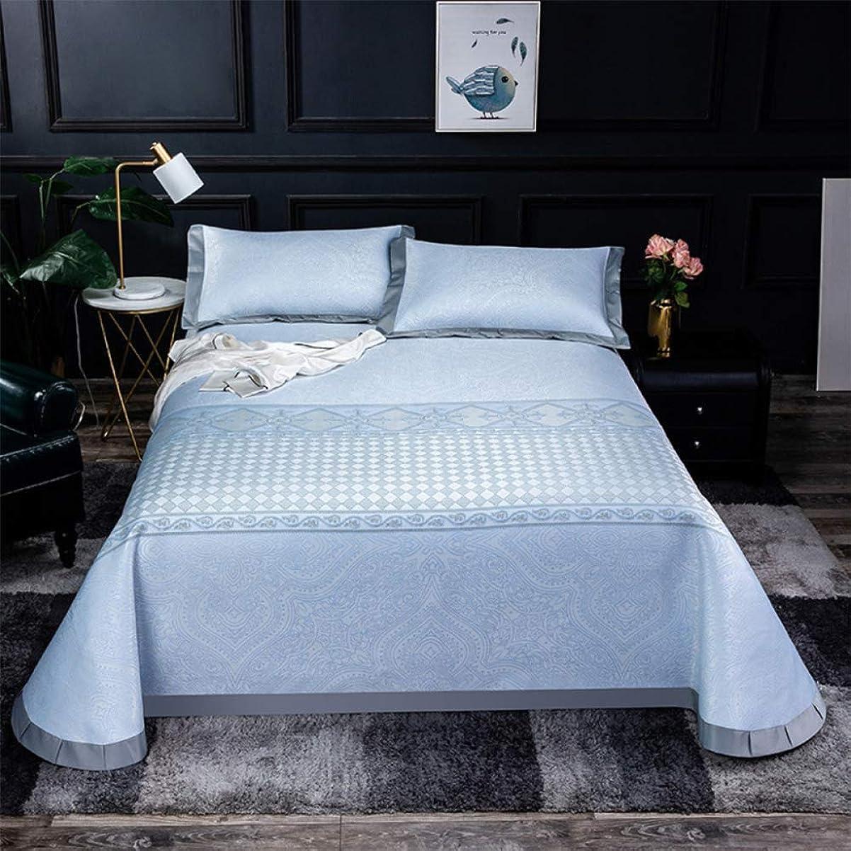 交じる証明する横に夏のアイスシルクマット折りたたみシート夏のマットマットレスマットレス保護パッド新鮮な夏の吸汗性パッド寝具,2-250*250CM