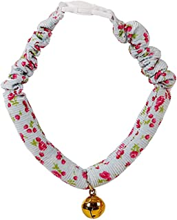 Fewear Collar Dog, Pet Dog Adjustable Print Collar with Bell Cat Buckle Necklace