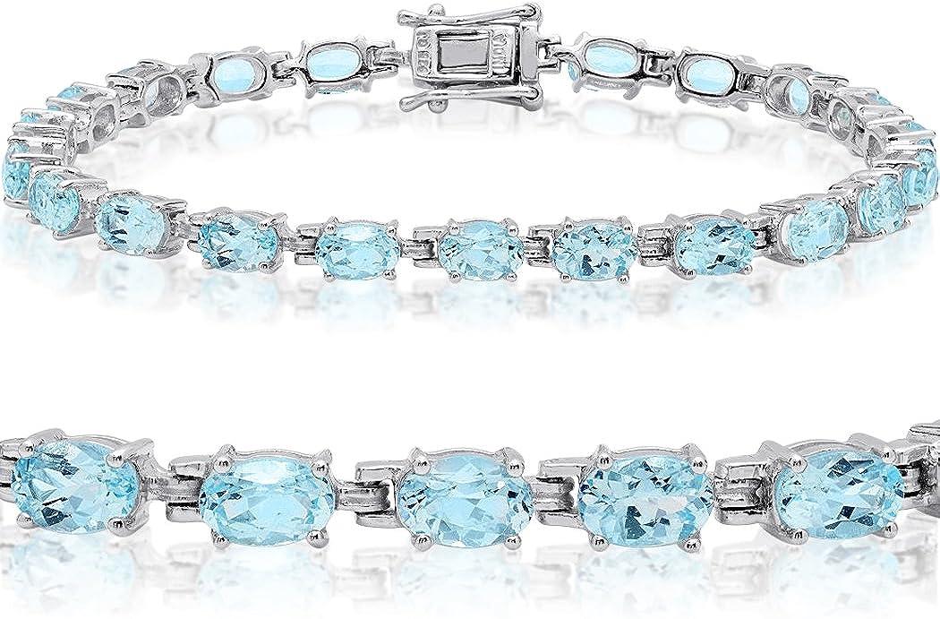 Philadelphia famous Mall Gemstone Tennis Bracelet in Sterling Silver from Choose Amethyst