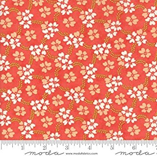 United Notions & Moda Fabrics Fig Tree Quilts Ella and Ollie Quilt Fabric Daisy Rings Style 20302/11 Strawberry