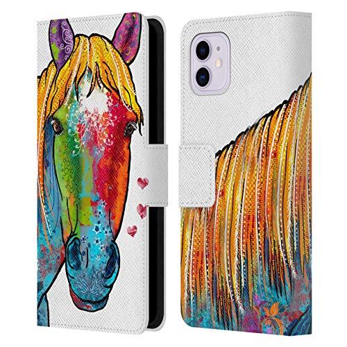 Head Case Designs Offizielle Duirwaigh Pferd Tiere Leder Brieftaschen Huelle kompatibel mit iPhone 11