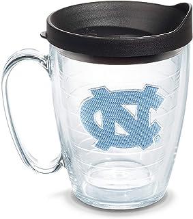 Tervis North Carolina Tar Heels Logo Tumbler with Emblem and Black Lid 16oz Mug, Clear