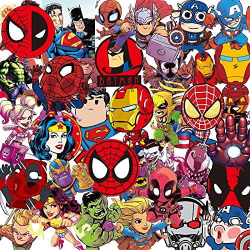 Vengadores Marvel Cartoon Maleta Pegatina Impermeable Maleta Portátil 100PCS