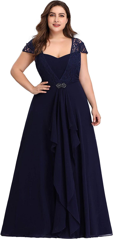 Ever-Pretty Women's Sweetheart Floral Lace Dress Evening Dress Plus Size 7986