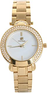 Nina Rose Wrist Watch for Women Crystal Inlaid Stainless Steel