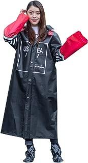 SUKIYO レディース メンズ レインコート ポンチョ かっぱ 雨具 自転車 オートバイ スクーター 原付 通勤 通学 軽量 袖付き EVA おしゃれ 防風 防水 防塵 防雪 散歩 梅雨対策 男女兼用 収納袋付き