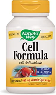 Nature's Way Antioxidant Formula, 25,000 IU Beta Carotene 100 Tablets