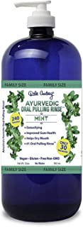 Dale Audrey | Oil Pulling Ayurvedic Mouthwash, Family Size | Natural Mint Oral Health Rinse, Whitens Teeth, Healthy Gums, ...