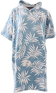 Poncho con Capucha para Mujer o Toalla de Bata cambiante para Deportes acuáticos de Playa y Surf - Toalla de Cambio - Blue Palms