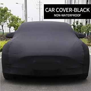 Model 3 Car Cover Sedan Cover UV Protection Windproof Dust Proof Scratch Proof Outdoor Full Car Cover for Tesla Model 3 (Black)