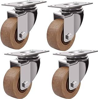 YJJT Castor wielen, Industriële wielen, 304 roestvrij stalen beugel, Dubbelzijdig lager, Super slijtvastheid, 100kg per ro...