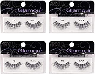 Ardell False Eyelashes Glamour Strip Lashes 113 Black 4 Pack
