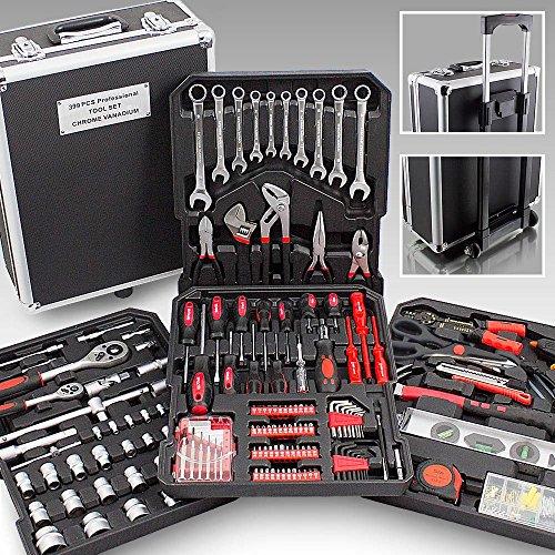 XXL-Koffer mit 399Werkzeugen, Trolley, Koffer zum Basteln und Handwerken