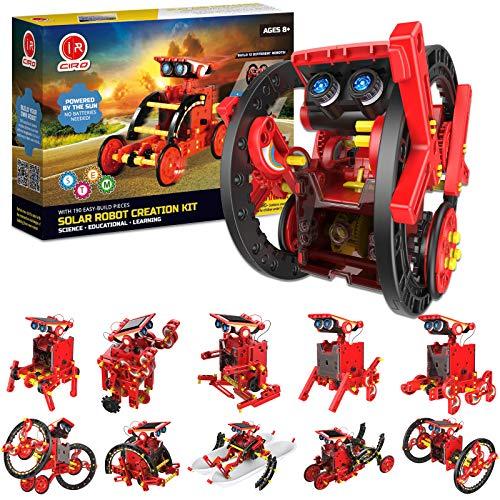 CIRO Solar Roboter Bausatz Kinder STEM Experimente 190 Stücke Konstruktionsspielzeug Geschenke 12-in-1 Solarenergie Wissenschaft Kits Jungen ab 8 Jahre