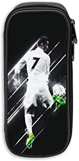 Greatest Football Player No.7 Jersey 3D Printed Large Capacity Student Pencil Case Portable Pouch Pen Case with Double Zipper Storage Organizer for Kids Teens