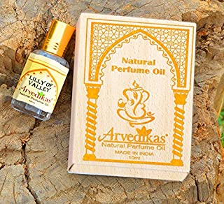 Chakra Natural Pure Lilly of Valley Perfume Oil for Women Body Parfum/Blended with Essential Oils/Gift Pack Premium Long Lasting Skin Friendly Non Alcoholic Oil Based Fragrance 10ml