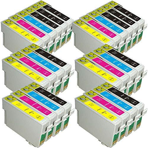 AA+inks - Cartucho de Tinta Compatible con impresoras Epson DX 4400 4450 5000 5050 6000 6050 7000 7000F 74450 8400 8450 9400F (10 Negro, 6 Cian, 6 Magenta y 6 Amarillo)