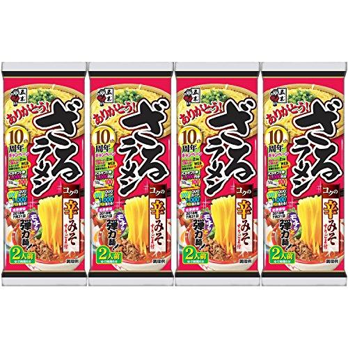 五木食品ざるラーメン辛みそ266g×4袋