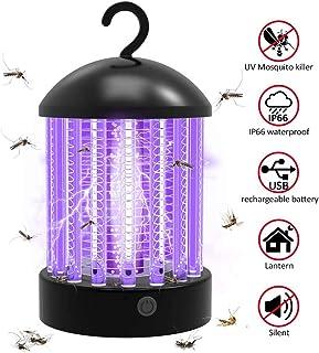 Mosquito Killer Lamp, UV Trampa para insectos Portátil 2 en 1 Mosquito Zapper Carpa de luz Linterna para acampar Recargable Mosquito Insect Killer Impermeable para acampar al aire libre Interior