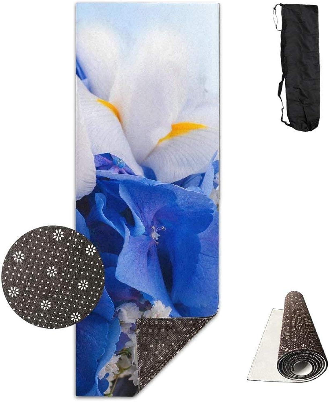 Iris Earth Flower Breath Deluxe Yoga Mat Aerobic Exercise Pilates
