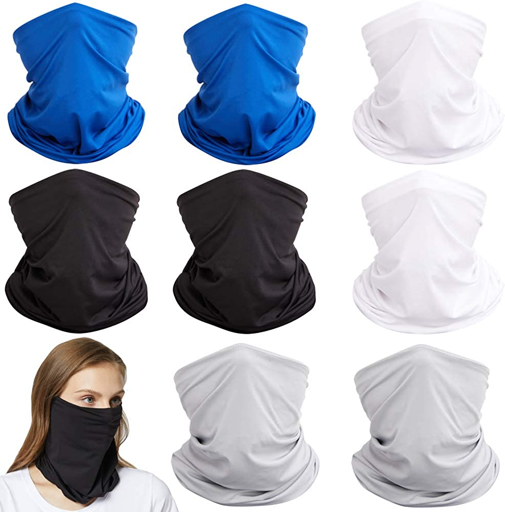Cooling Neck Wraps Neck Gaiter Face Covering UPF 50+ UV Proof Breathable Reusable Face Scarf for Men Women
