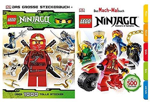 LEGO Ninjago: El gran libro de pegatinas – más de 1000 pegatinas – Libro de bolsillo + libro para colorear de bolsillo Ninjago