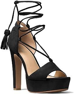 rosalie suede lace up platform sandal