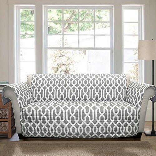 Lush Decor Edward Furniture Protector, Loveseat, Gray