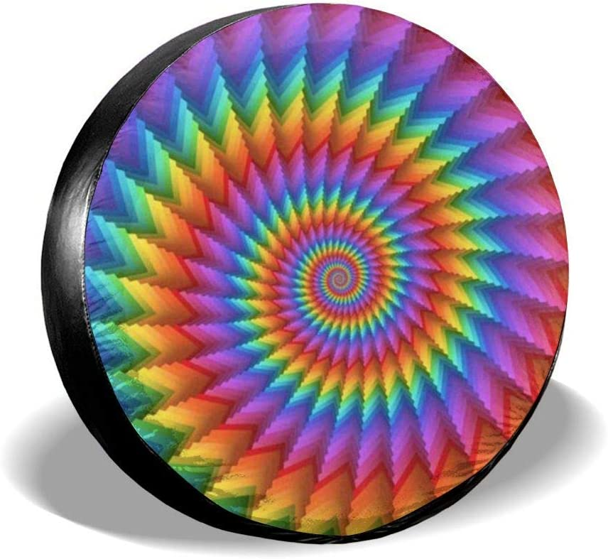 Ouqiuwa Spare Great interest Tire Limited time cheap sale Cover Rainbow Carpet f Wheel Covers Universal