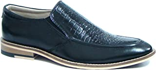 ASM Handmade Black Leather Slip onShoes with Handmade Neolite Sole