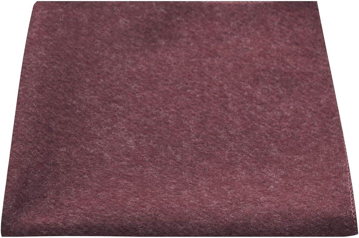 Luxury Burgundy Donegal Tweed Pocket Square, Handkerchief, Tweed