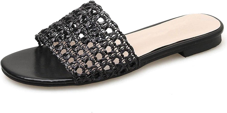 goldsmyth Summer Slippers Woman Hollow Open Toe Mules Low High Heel Flip Flops Women Flat Beach Sandal