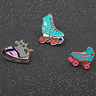 Chong Golden Delicious new creative design drop enamel playground personality wild roller skates collar pin brooch brooch badge female