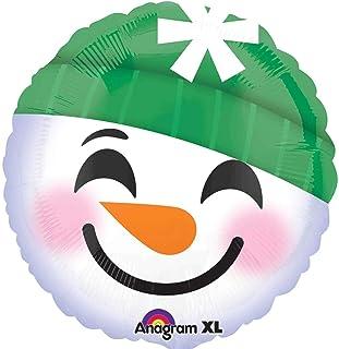 Amscan International 3404101 Snowman Emoticons Foil Balloon