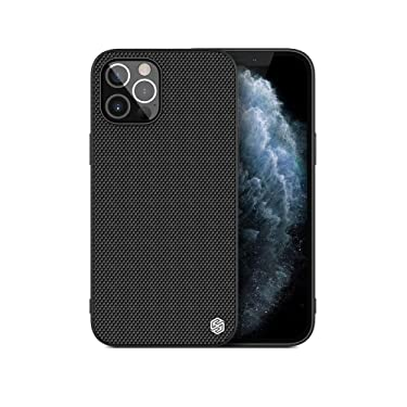 """Nillkin Case for Apple iPhone 12 Pro Max (6.7"""" Inch) Textured Series Nylon Fiber Tough & Durable PC + TPU Material Luxury Protect Black"""