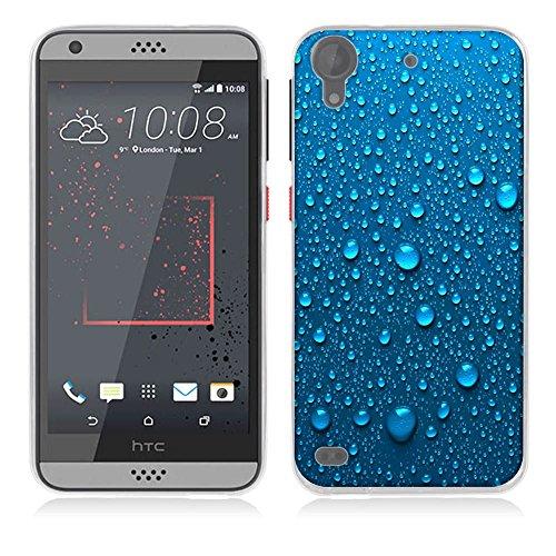 Fubaoda [Blaues Wassertropfen] Schutzhülle für Desire 530, [Air-Cushion Kantenschutztechnologie - Bumper Case] Rückschale & TPU-Bumper Weiche Silikon Schutzhülle für HTC Desire 530