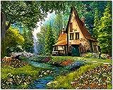 Bougimal Pintar por Numeros Adultos, DIY Pintura por Números Paisajes sin Marco de 40 X 50 cm