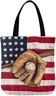 american flag canvas tote bag