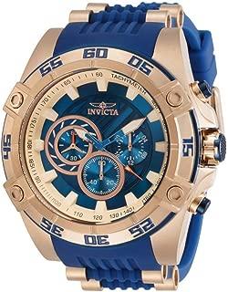 Men's Speedway Quartz Watch with Stainless Steel Strap, Blue, 26 (Model: 30110)