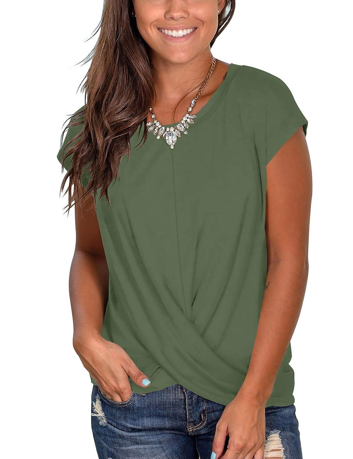 Womens Tassel Short Sleeve Round Neck T-Shirt Top Casual Summer Tee