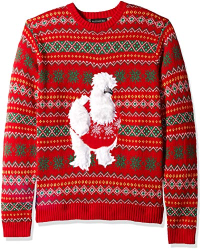 Blizzard Bay Men's Ugly Christmas Sweater Animals, Orange, Small